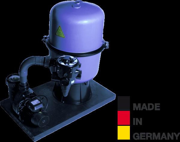 Sandfilteranlage HP 350/A6, Ø 350mm, 6m³/h, bis 30m³