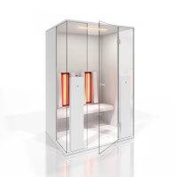 Infrarotkabine b intense 2, 130x115x200 cm, Hochglanz Weiß, Abverkaufskabine