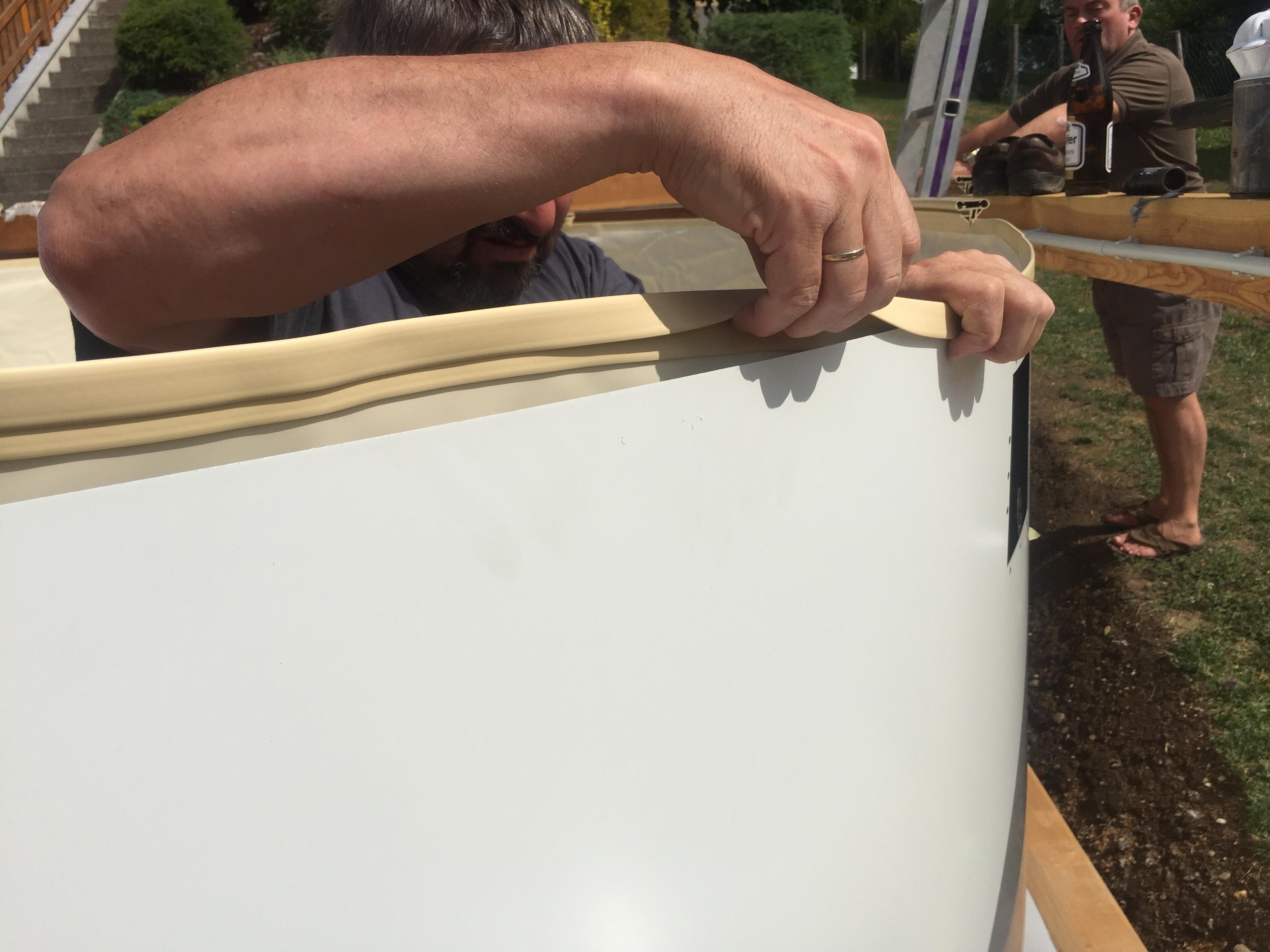 Rundpool prime 400 x 135 cm komplettset apoolco for Poolfolie montieren