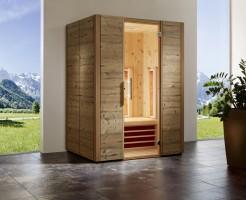Infrarotkabine TrioSol Alpina Zirbe 150, 150x110x200 cm, 3 Personen