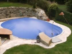 Schwimmbadabdeckung aufblasbar, achtform