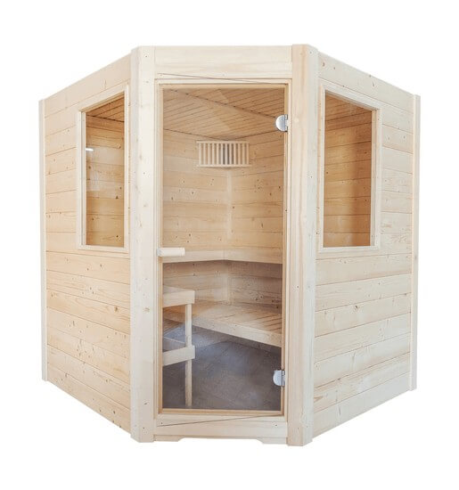 Sauna Basic Corner, 187x194x204 cm, 3 Personen