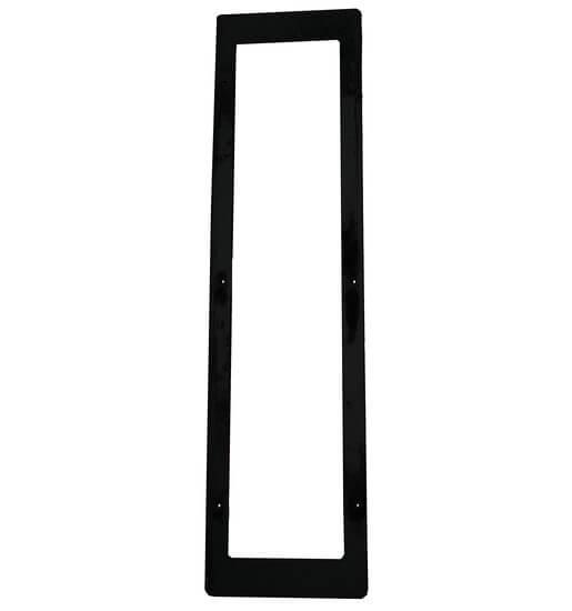 Edelstahlblende für IR-Strahler 500/750/1300W, schwarz