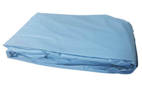 Poolfolie rund, 360 x 120 - 130 cm, 0,40 mm, überlappend, blau