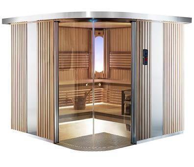 Sauna Rondium S2020KL, 195x195x203 cm, 2 Personen