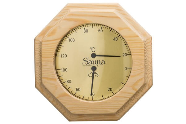 Thermo-Hygrometer Nadelholz, 8-eckig