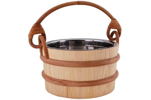 Saunakübel 3 Liter, mit Edelstahleinsatz