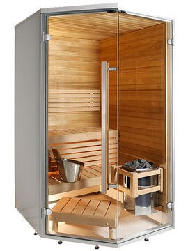 Sauna Sirius Line SC1212K, 123x124x208 cm, 2 Personen