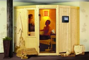 Sauna Simara 1, 196x196x198 cm, 3 Personen