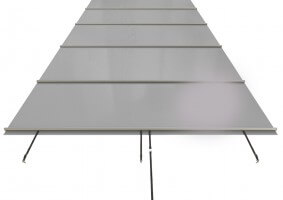 Stangenabdeckung MAMBO 770 x 406 cm, grau