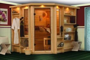 Sauna Riona, 262x198x212 cm, 3 Personen