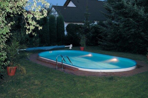 Ovalpool Trend 500 x 300 x 120 cm, Komplettset mit Sandfilteranlage