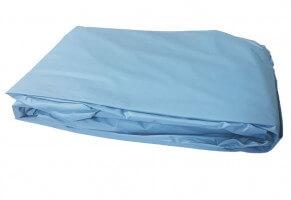 Poolfolie rund, 300 x 135-145 cm, 0,40 mm, überlappend, blau