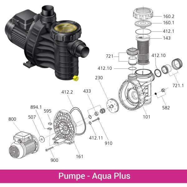 Pumpenverschraubung für AquaPlus 4/6/8(721)