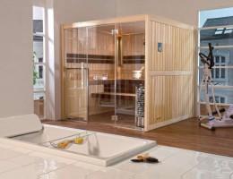 "Sauna Mocca ""Standard"", ab 201x201x212 cm, 3 - 4 Personen"