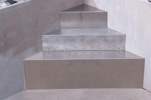 AQUASTEP Aluminium-Ecktreppe