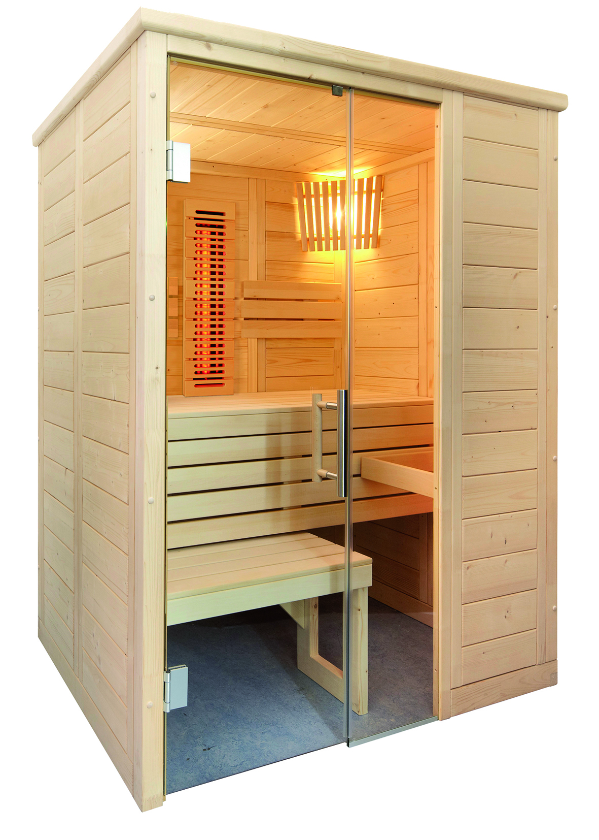 infrarotsauna kombination aus sauna und infrarot online kaufen. Black Bedroom Furniture Sets. Home Design Ideas