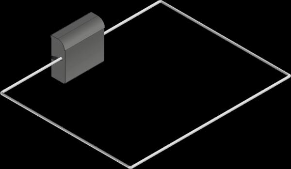 Abschaltwippe rechteckig 500 x 500 mm SFE-500500