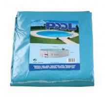 Poolfolie oval, 500 x 300 x 120 cm, 0,60 mm, mit Biese, blau