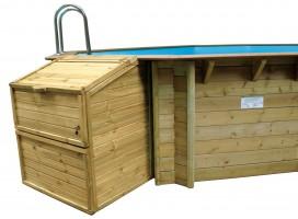 Filterkasten für Holzpools, 120 cm Höhe