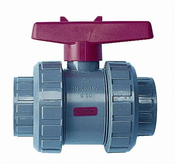 PVC Kugelventil, 63 mm