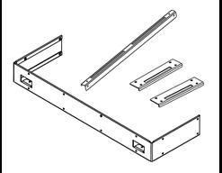 Halterungsset für Ofenreling Concept R Mini (2-seitig)