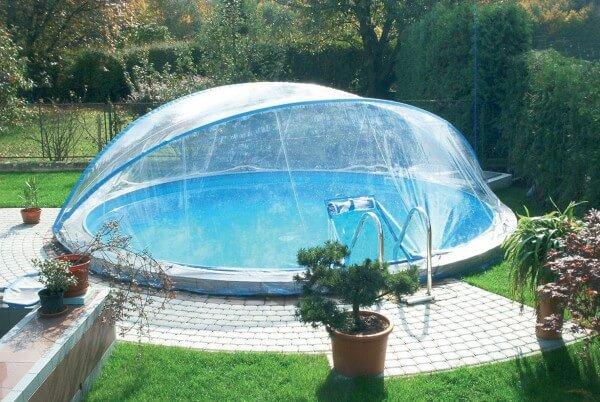 Ersatzfolie für Cabrio Dome, rund, Ø 500 cm mit schmalen Handlauf
