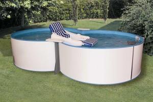 Trend Pool Set Achtform 432 x 250 x 120 cm mit Sandfilteranlage