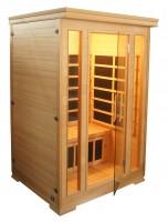 Infrarotkabine Komfort, 124 x 116 x 190 cm, 2 Personen